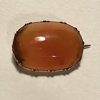 Georgian Veil Pin - Carnelian and 9ct Gold