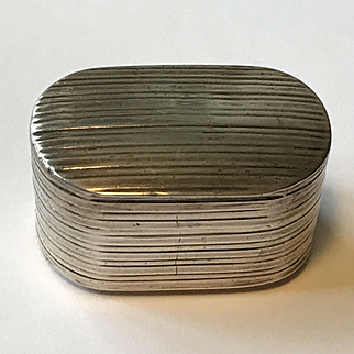 English Silver Nutmeg Grater by Joseph Willmore dated 1813