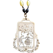 Genuine Art Deco Celluloid Pendant