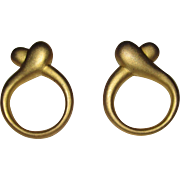Vintage Halston Clip Earrings Book