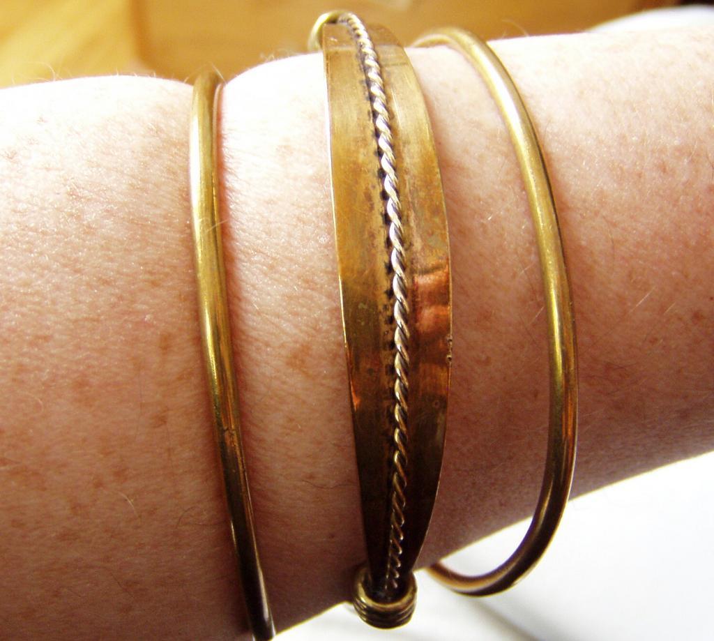 Ancient Style Brass Armband Bracelet Kalevala Kaunis Koru
