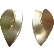 Anthony Papp Modern Silver Earrings