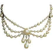 Vintage Rousselet Festoon Necklace Gorgeous Fit For A Bride