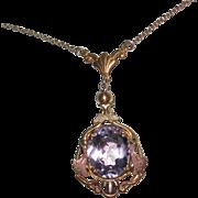 Victorian Amethyst Pendant Necklace