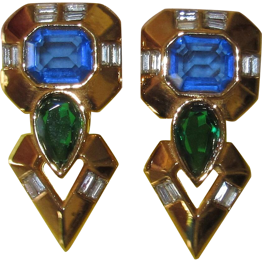 Vintage Iconic 1980s Angela Kramer Earrings