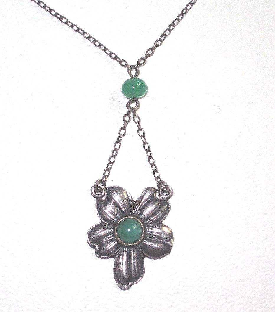 Vintage Sterling Art Nouveau Necklace