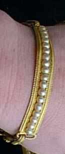 Choker Bracelet Set Vintage Collar with Faux Pearls