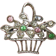 Small Sterling Paste Basket Pin