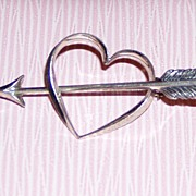 Beau Sterling Heart Pin