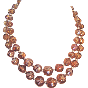 Best Vintage Glass Beads Necklace Golden