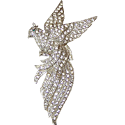 Large Bird of Paradise Rhinestone Brooch