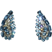 Giant Gorgeous Vintage Rhinestone Earrings Clips