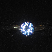 Vintage 10K Blue Topaz Ring
