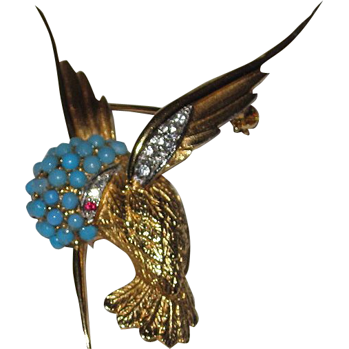 Boucher Hummingbird Brooch