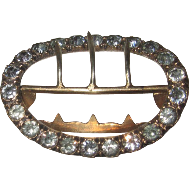 Georgian Paste Buckle Gold Tone
