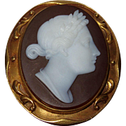 Antique Neoclassical Carnelian Cameo Museum Quality