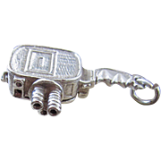 Vintage Silver Video Camera Movie By Chim Opening Charm