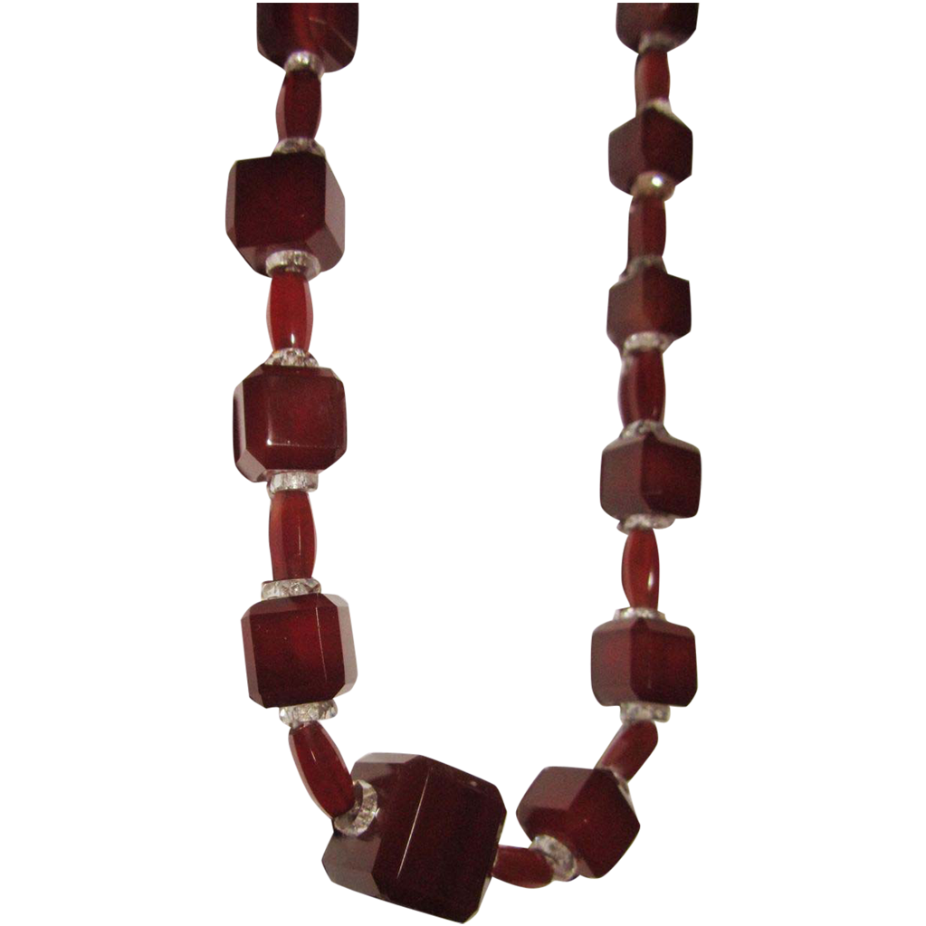 Genuine Carnelian Agate Cut Beads Square