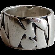 Vintage C. B. Stark Cheryl B. Stark Mid Century Modern Sterling Handwrought Ring 1960s