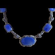 Art Nouveau Chalcedony Sterling Necklace
