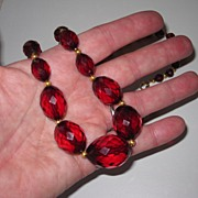 Wonderful Vintage Cherry Amber Beads 36 Inches Long