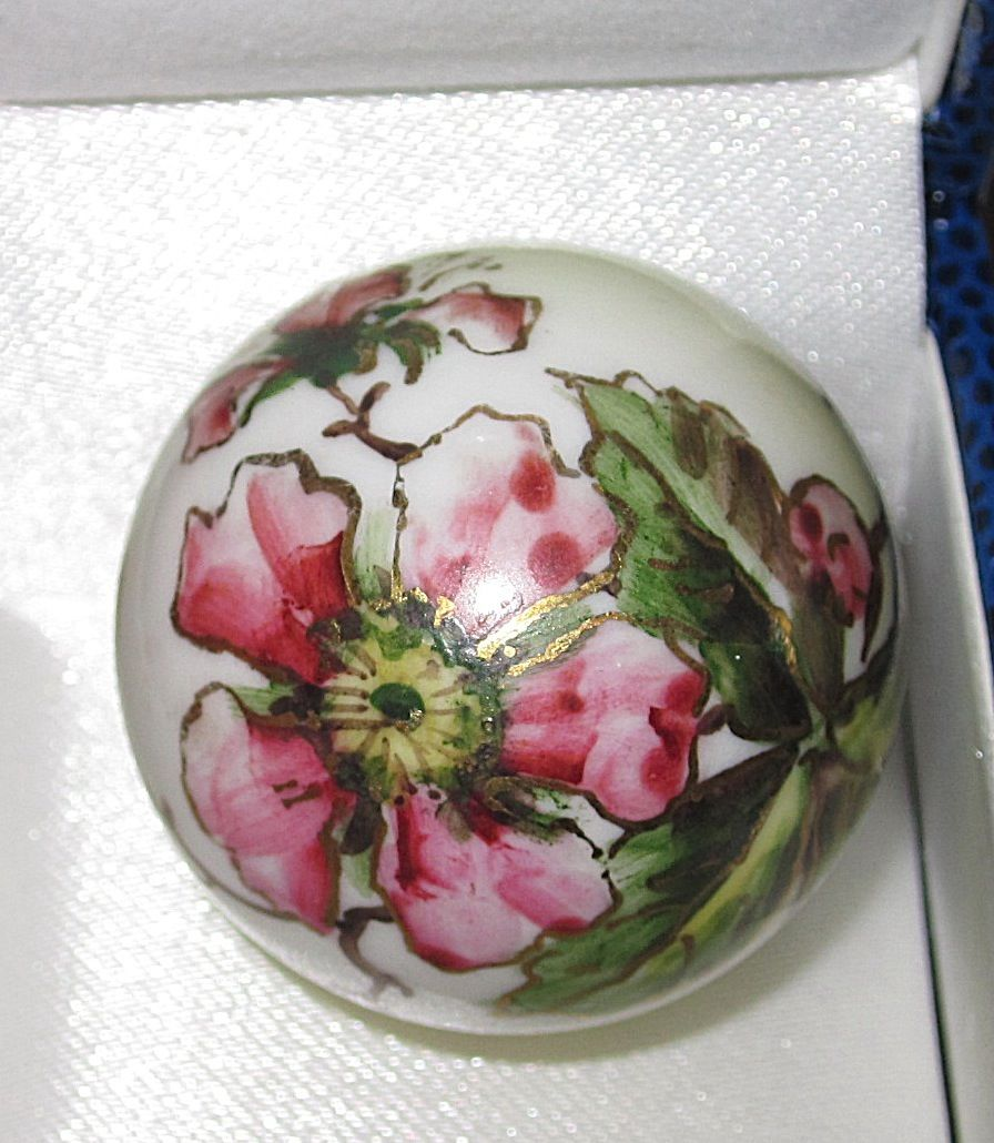 Victorian painted porcelain christmas ornament from phalan
