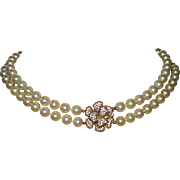 Vintage Ciner Double Strand Faux Pearls