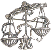Cini Sterling Libra Pin