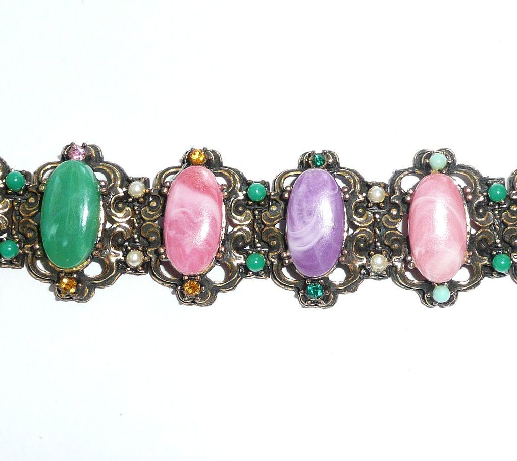 Chunky Colorful Vintage Bracelet