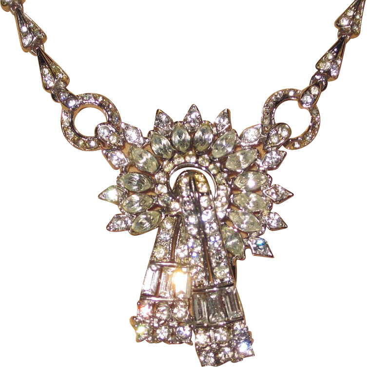 Vintage Corocraft Rhinestone Necklace