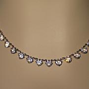 Vintage Crystal Choker Necklace
