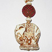 Vintage Art Deco Czech Glass Beads Elephants