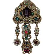 Vintage Czechoslovakia Ornate Brooch