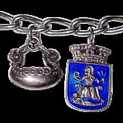 Scandinavian Silver Charm Bracelet with David Andersen Charm