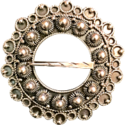 David Andersen Circle Brooch Signed