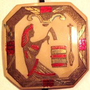 Art Deco Egyptian Motif Celluloid Pendant