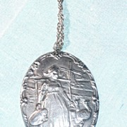 Large Sterling Dutch Girl pendant