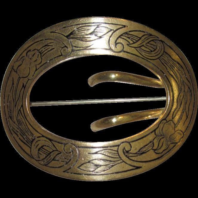 E. A. Bliss Art Nouveau Sash Pin