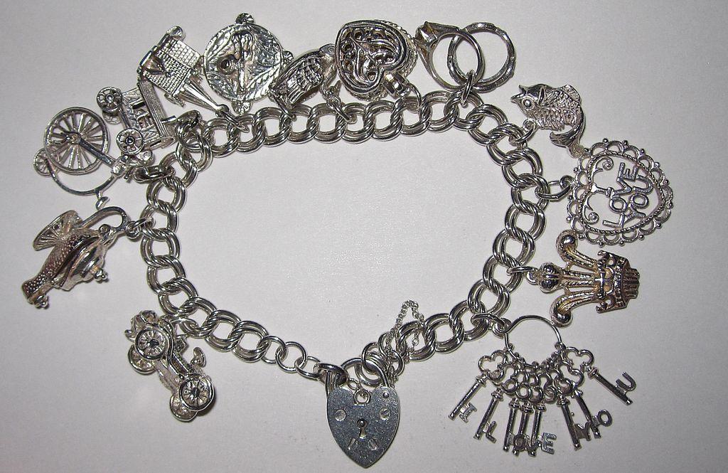 Vintage Sterling English Charm Bracelet