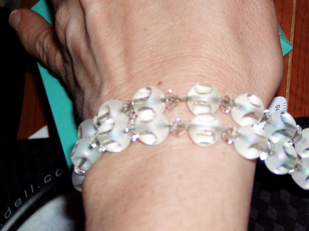 Vintage Faceted Crystal Beads Bracelet