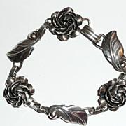 Vintage Sterling Silver Floral Bracelet