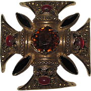 Florenza Beautiful  Maltese Cross Pin Brooch