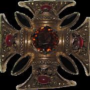 Florenza Beautiful  Maltese Cross Pin Brooch