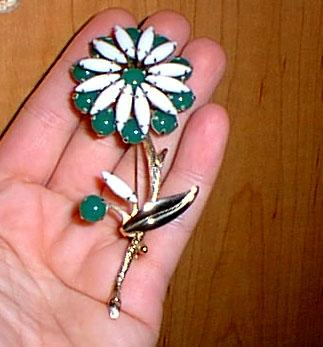 Flower Pin Large Glass Beauty Vintage