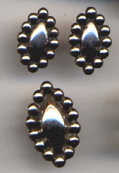 Mexican Silver Ring and Earrings Set