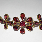 Antique Floral Garnet Bracelet Gorgeous