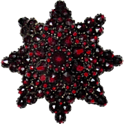 Star Shaped Victorian Garnet Brooch