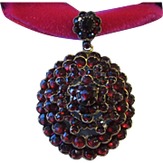Antique Bohemian Garnet Locket Pendant