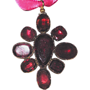 Georgian Garnet Pendant Brooch Large