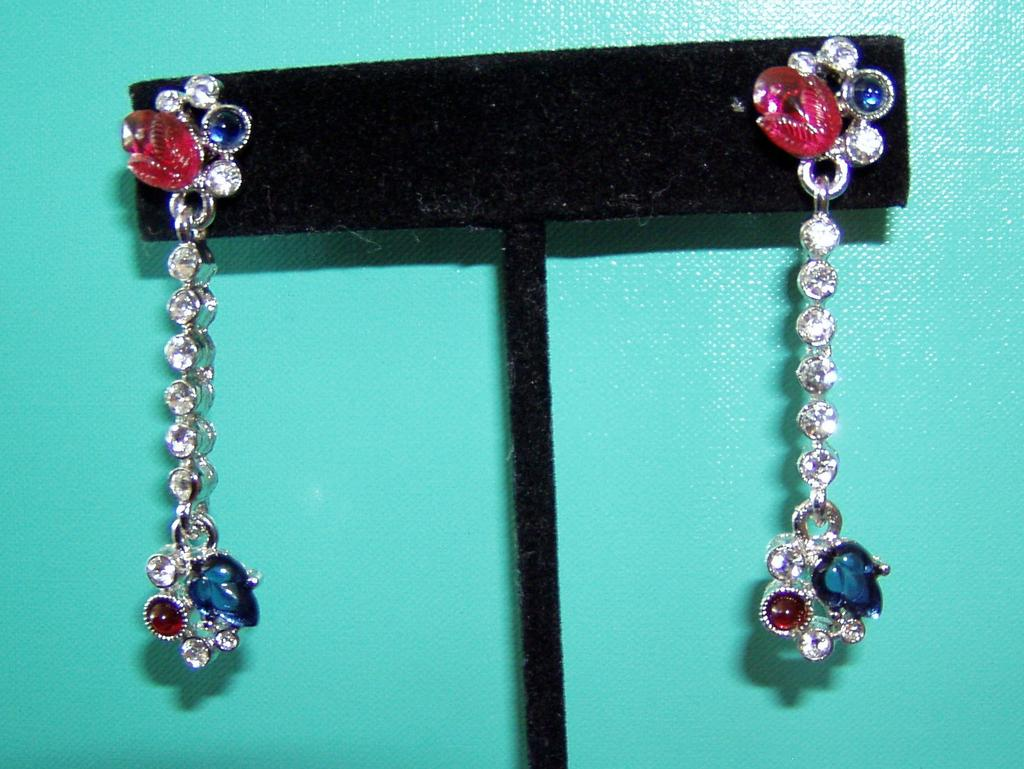 Givenchy Pierced Gorgeous Fruit Salad Long Drop Earrings